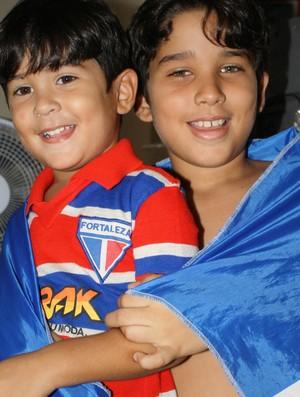 Especial Dia das Crianças: Igor e Lucca, torcedores do Fortaleza (Foto: Arquivo Pessoal)
