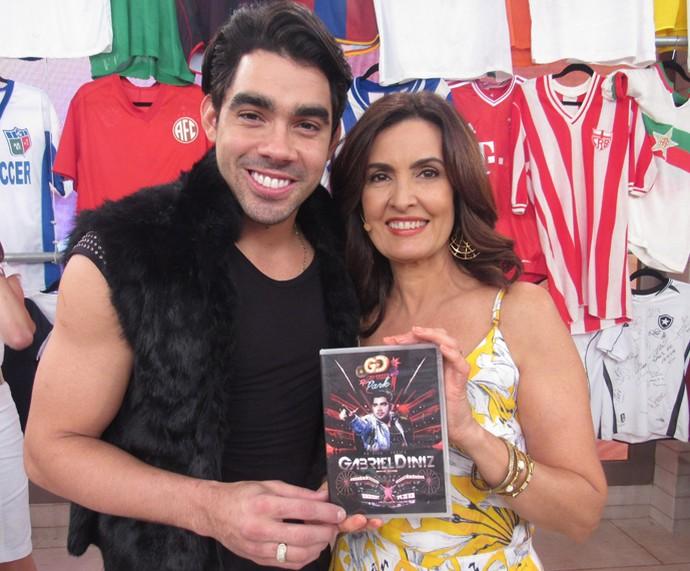 Gabriel Diniz foi a atração musical do dia (Foto: Priscilla Massena/Gshow)