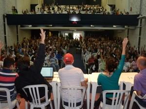 Funcionários decidiram manter a greve na capital (Foto: Sindicatos do Bancários de Florianópolis/Divulgação)