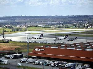 Vista do Aeroporto de Viracopos, em Campinas (Foto: Luciano Calafiori / G1 Campinas)