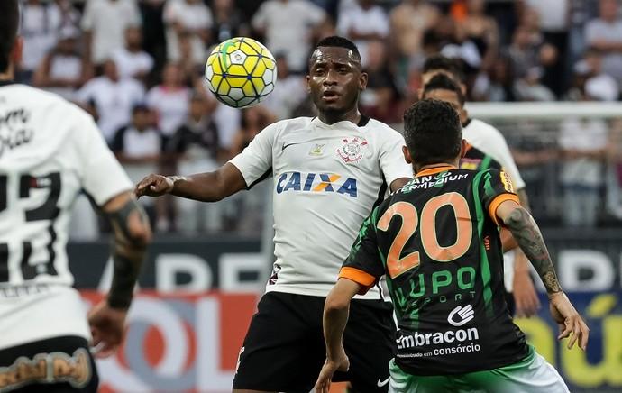 Corinthians x América-MG Willians (Foto: Rodrigo Gazzanel/Ag. Corinthians)