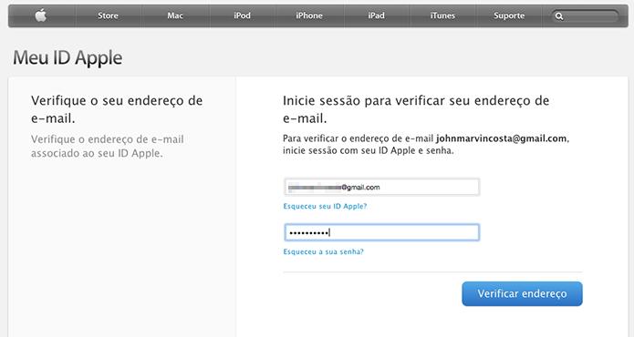 Confirmando a alteração no e-mail vinculado a ID da Apple (Foto: Reprodução/Marvin Costa)