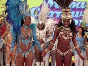 Viviane e Michelle foram as primeiras finalistas  (Caldeirão do Huck/TV Globo)