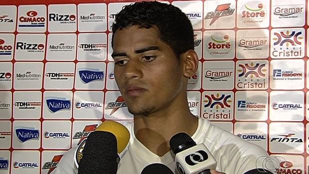 Toni, goleiro do Vila Nova (Foto: Reprodução/TV Anhanguera)