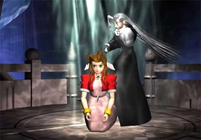 Aerith morre em Final Fantasy 7 (Foto: Reprodução/Felipe Vinha)