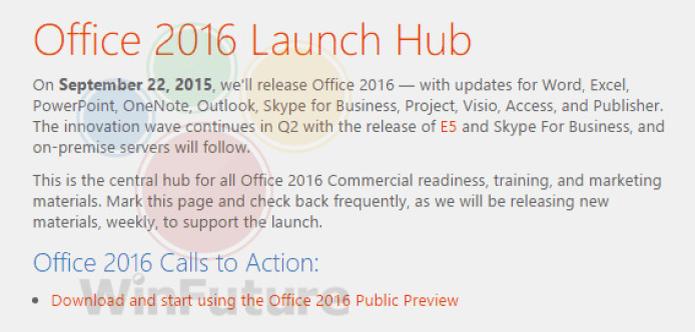 Office 2016 está vindo aí, revela site alemão (Foto: Reprodução/WinFuture) (Foto: Office 2016 está vindo aí, revela site alemão (Foto: Reprodução/WinFuture))