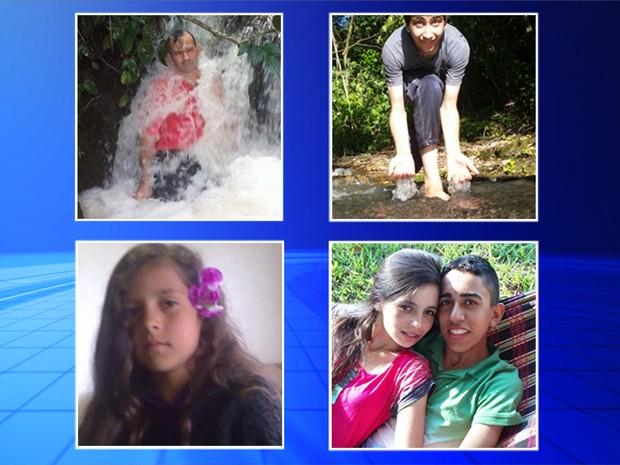 Morreram afogados em Bauru o pai, Newton Avante, os filhos Thallysson, Nataniely e Natália Gabriela e o namorado dela, Luick Claro (Foto: Reprodução/TV TEM)