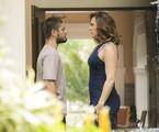 'A lei do amor':  Daniel Rocha e Claudia Raia em cena como Gustavo e Salete | TV Globo