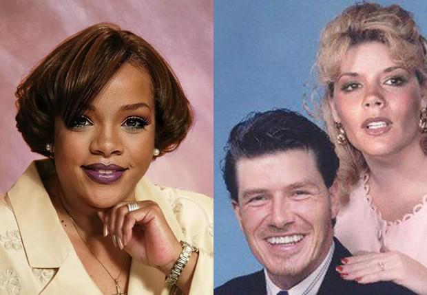 Rihanna, David Beckham e Victoria Beckham (Foto: Reprodução)
