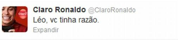 Ronaldo brinca com Léo no Twitter (Foto: reprodução)