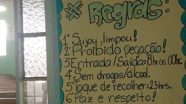 Ocupação em colégio tem regras rígidas (Foto: Camila Feiler)