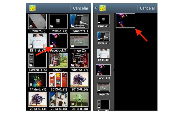 Carregando uma foto da biblioteca do Android no Happn para mudar a foto de perfil no aplicativo de paquera (Foto: Reprodução/Marvin Costa)