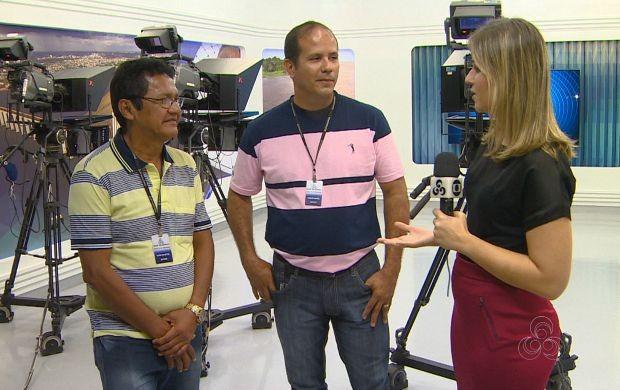 Telespectadores visitam bastidores da Rede Amazônica (Foto: Amazonas TV)