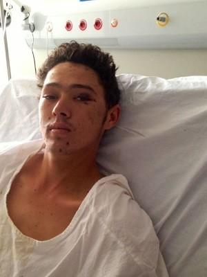 Ademar está internado em hospital de Goiânia (Foto: Hugo/ Divulgação)