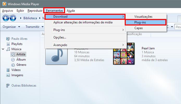 Acesse a página de download de plugins (Foto: Reprodução/Paulo Alves)