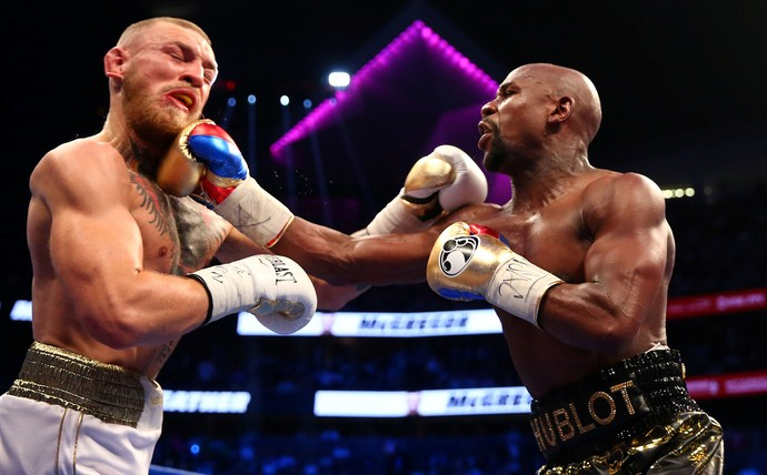 Floyd Mayweather x Conor McGregor na luta do ano em Las Vegas May-Mac (Foto: Mark J. Rebilas-USA TODAY Sports/Reuters)