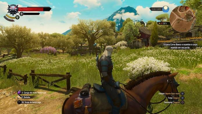 The Witcher 3: última expansão traz novo mapa imenso (Foto: Reprodução/Victor Teixeira)