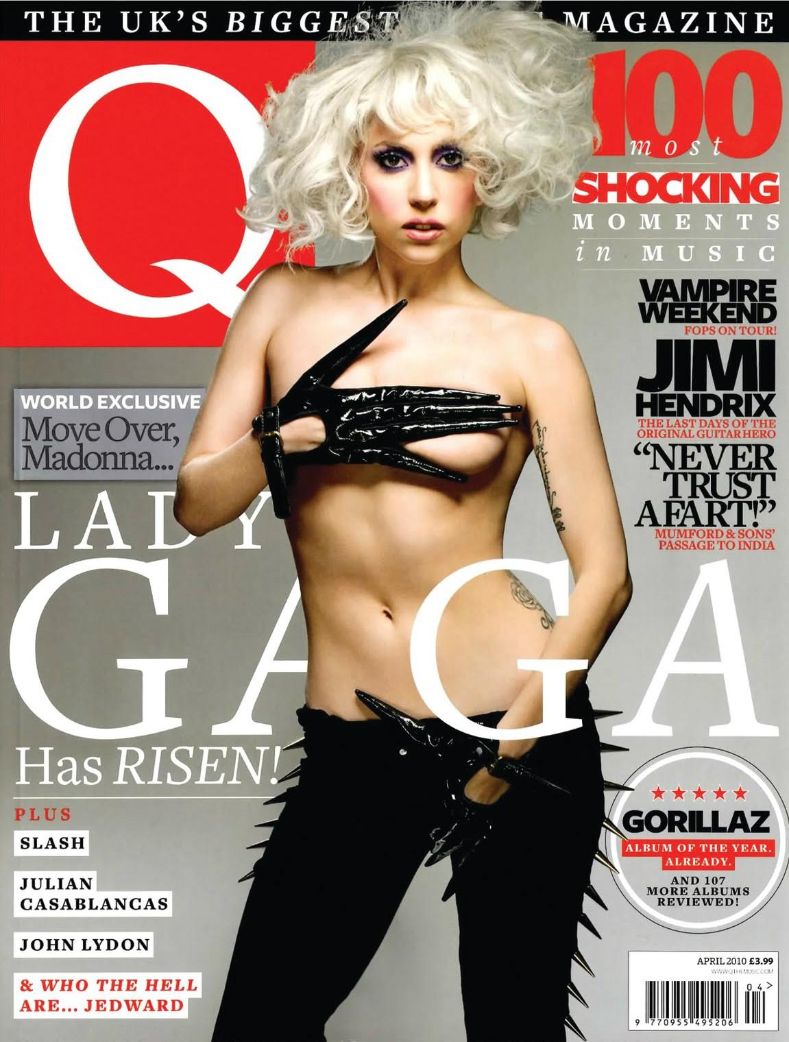 Lady Gaga na 'Q' de abril de 2010. (Foto: Reprodução)