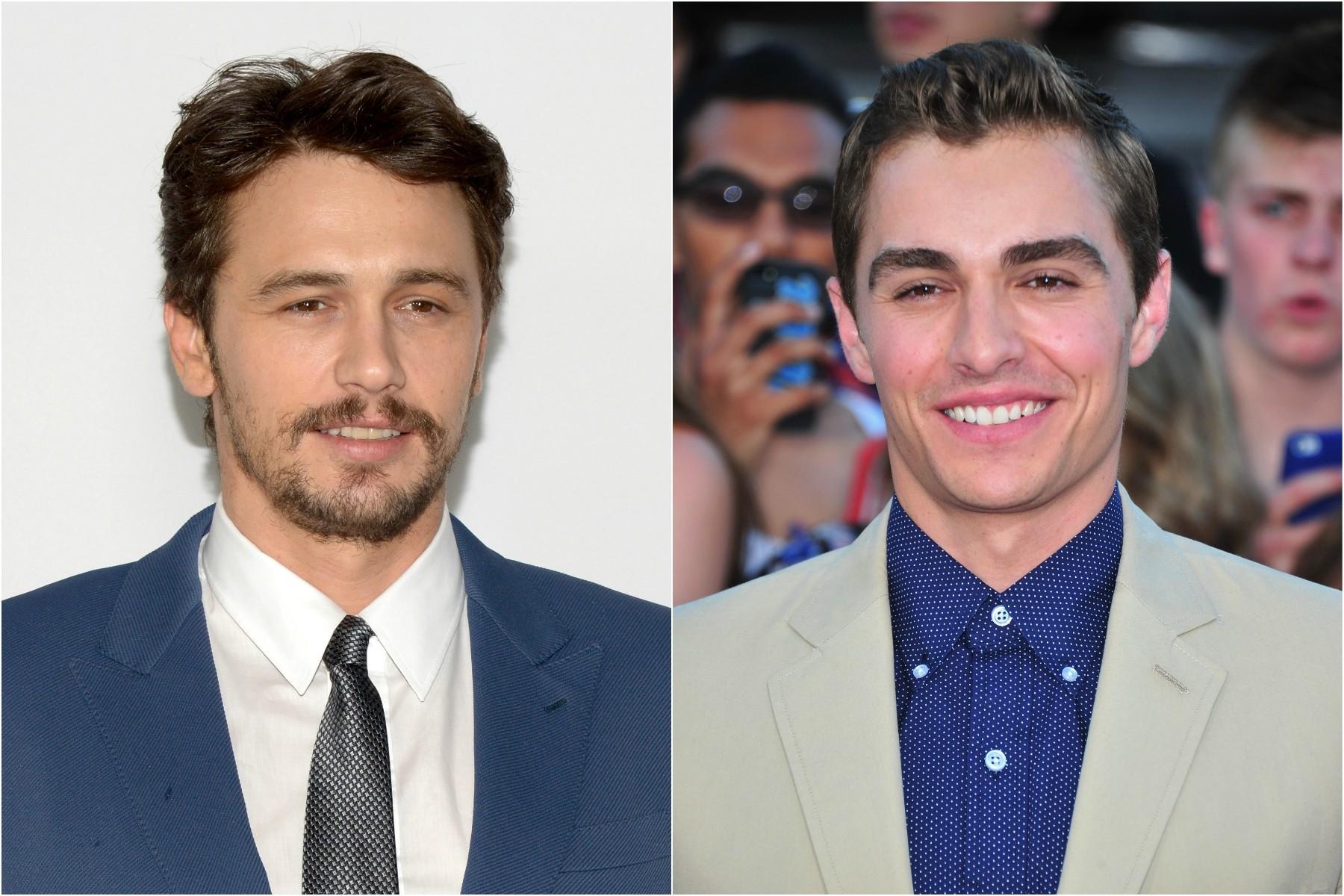 James Franco (à esq.), de 36 anos, tem um irmão de 29 chamado Dave Franco, também ator. (Foto: Getty Images)
