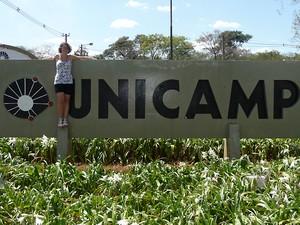 A estudante italiana Giulia Vercelli cursa arquitetura na Unicamp, em Campinas (Foto: Arquivo Pessoal / Giulia Vercelli)
