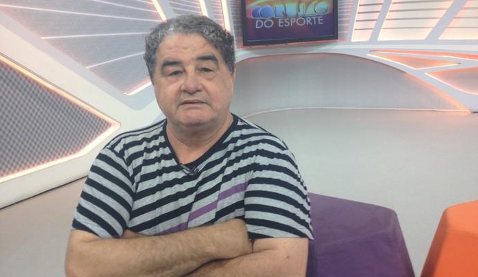 Otávio Augusto no Corujão do Esporte (Foto: Júlia Pecci/ Globoesporte.com)