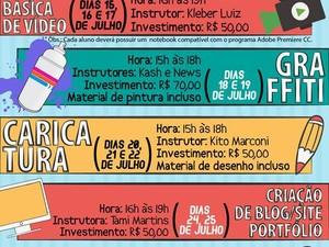 São 15 vagas para cada curso e a inscrição custa R$ 50 (Foto: Divulgação)