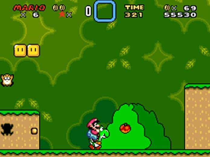 Mario montado no Yoshi em Super Mario World (Foto: Reprodução / Mario Wiki)