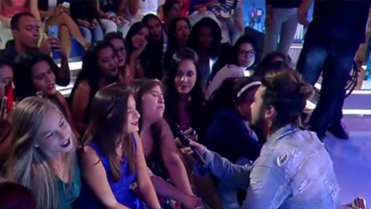 Luan Santana canta para fã com síndrome de Down no 'Caldeirão'