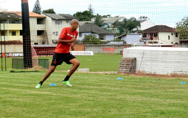 Alex Silva treino Flamengo (Foto: Raphael Bózeo)
