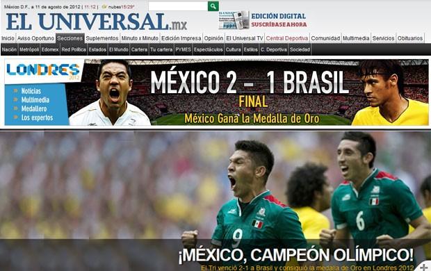Montagem, El universal e Record, Brasil e Mexico (Foto: Reprodução)