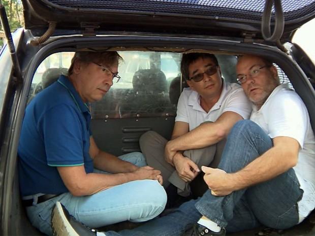 Médicos João Alberto Brandão, Cláudio Rogério e Jeferson Skulski foram detidos em Poços de Caldas (Foto: Reprodução EPTV)