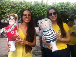 As irmãs Luciana e Taciana Xavier (Foto: Michelly Oda / G1)