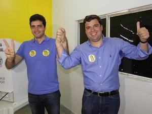 O prefeito eleito de Maceió, Rui Palmeira (PSDB), e o vice, Marcelo Palmeira (PP) (Foto: Divulgação)