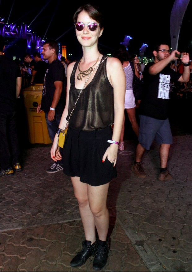Nathalia Dill no Rock in Rio (Foto: Marcos Ferreira / PhotoRioNews)