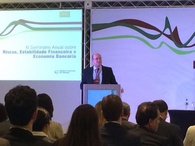 Ilan Goldfajn, presidente do BC, participa de seminário da instituição, em São Paulo. (Foto: Karina Trevizan/G1)