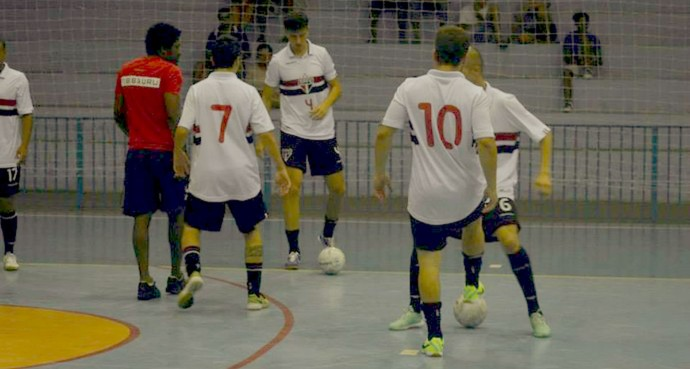 São Paulo/Bauru, time de futsal (Foto: Divulgação / FIB / SPFC)