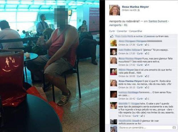Post da professora originou revolta nas redes sociais (Foto: Reprodução / Facebook)