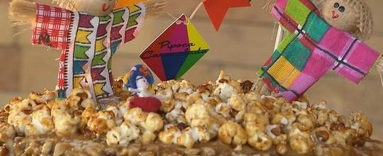 Veja receita de bolo de pipoca caramelada e pé de moleque (Reprodução/TV Cabo Branco)