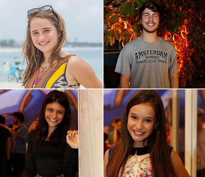 Manuela Llerena, Thales Cavalcanti, Joana Cardoso e Kiria Araujo celebram a trajetória em 'Malhação' (Foto: TV Globo)