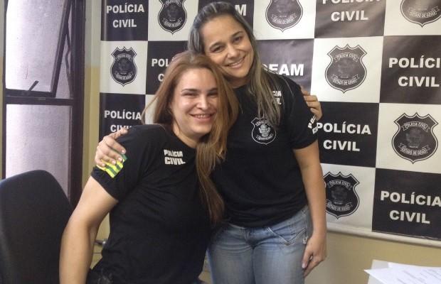 Delegada Laura de Castro teixeira em Goiás (Foto: Sílvio Túlio/G1)