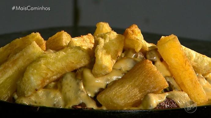 Picanha, mandioca e queijo, combinação de sucesso em restaurante (Foto: reprodução EPTV)