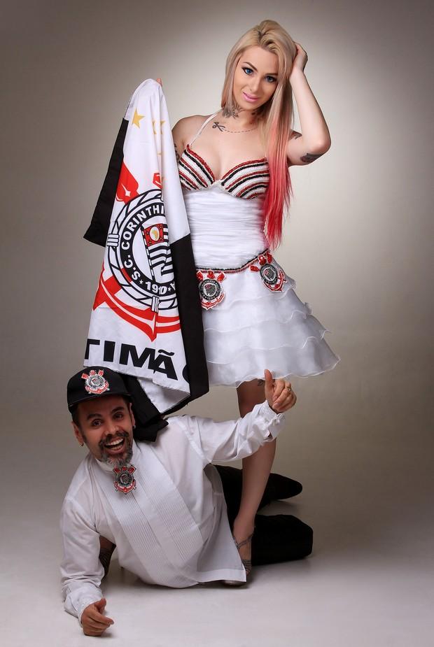 Vestido de noiva do Corinthians (Foto: Vimo)