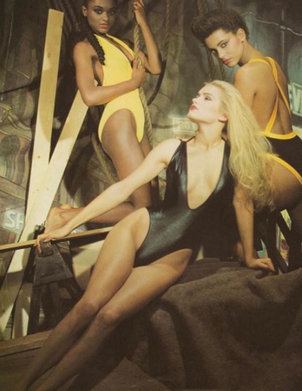 Yolanda Hadid, mãe de Gigi e Bella Hadid, modelando aos 18 anos (Foto: Reprodução/Instagram)