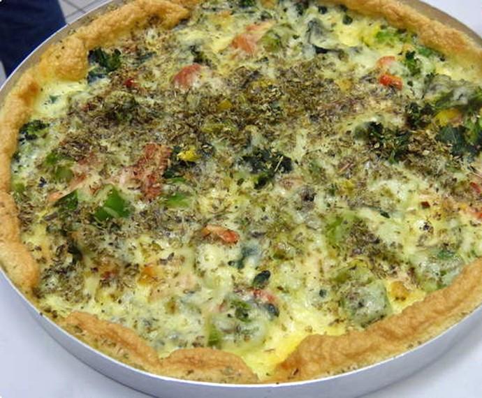 Pizza de Ovo sem Glúten do Belfort  (Foto: Gshow)