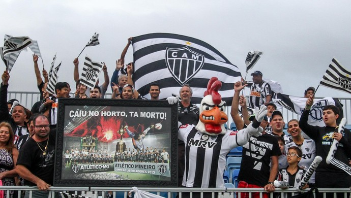 Torcida do Atlético-MG, no treino do Galo, na Flórida (Foto: Bruno Cantini / Atlético-MG)