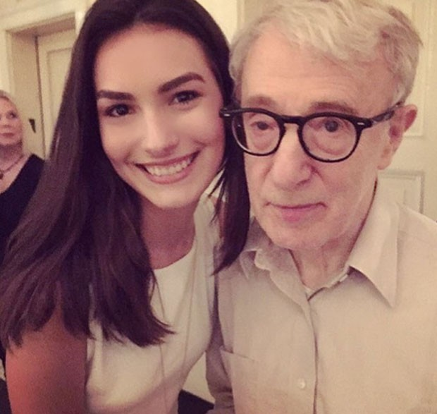 Woody Allen e Marina Moschen (Foto: Reprodução)