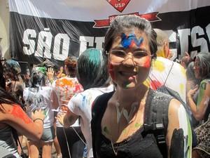Leila Higa, de 18 anos, prestou vestibular em direito na USP até ser aprovada (Foto: Vanessa Fajardo/ G1)