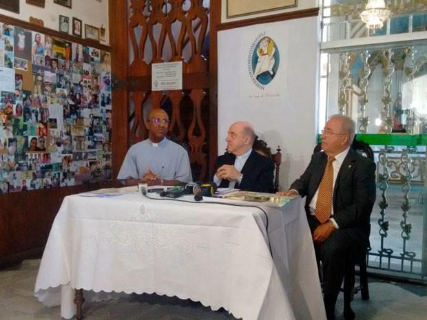Arquidiocese fala sobre programação da Lavagem do Bonfim 2016 (Foto: Alan Tiago/G1)