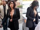 Louca por um decotão: confira os looks mais ousados de Kim Kardashian