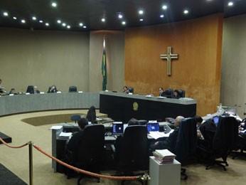 Sessão do pleno do TRF5 (Foto: Luna Markman / G1)